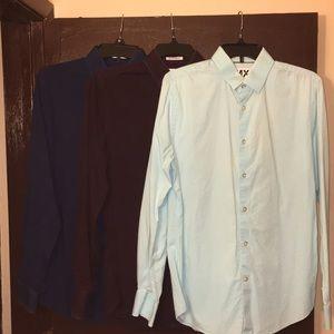 3 express dress shirt size M